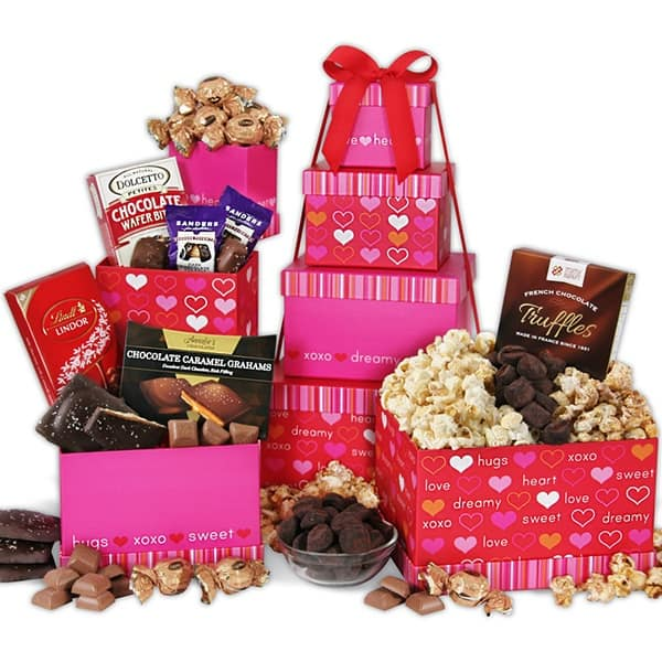 valentine's day gifts ideas with gourmet baskets from the heart tower
