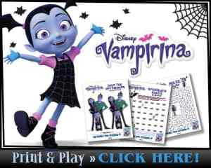 Free Printable Vampirina Activity Sheets