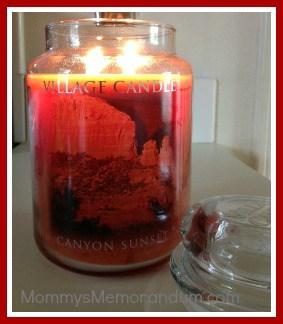 village candle canyon sunset