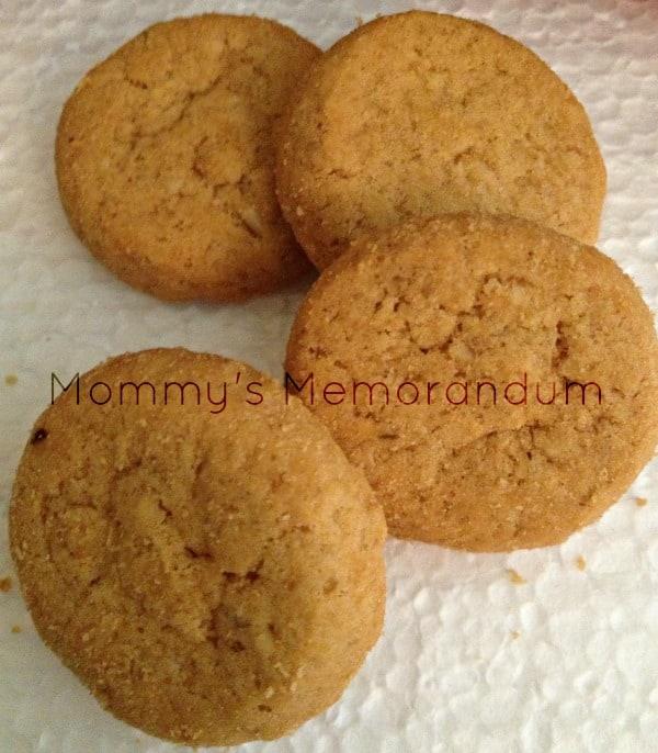 walkers oatmeal cookies closeup