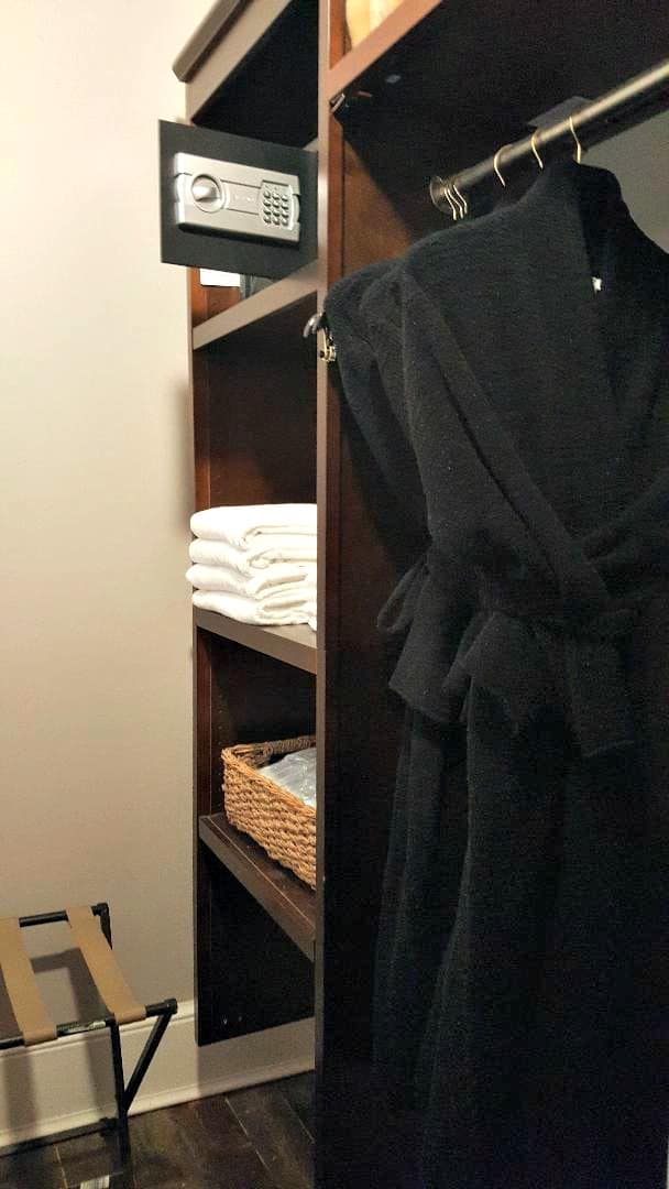 windsor boutique hotel cashemere robes and plush towels and slippers