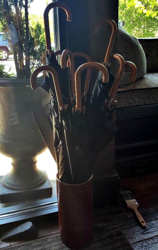 windsor boutique hotel umbrella stand in lobby