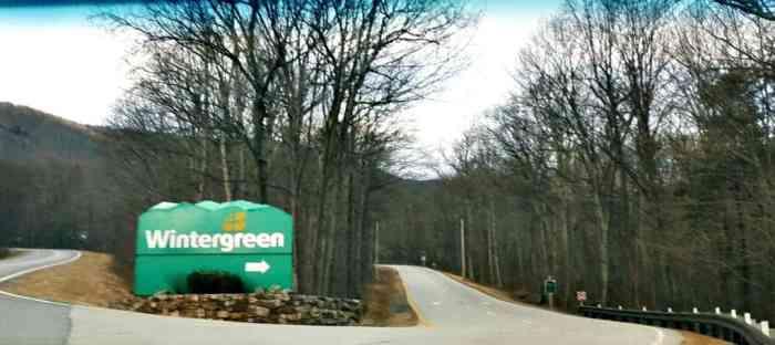 wintergreen resort sign
