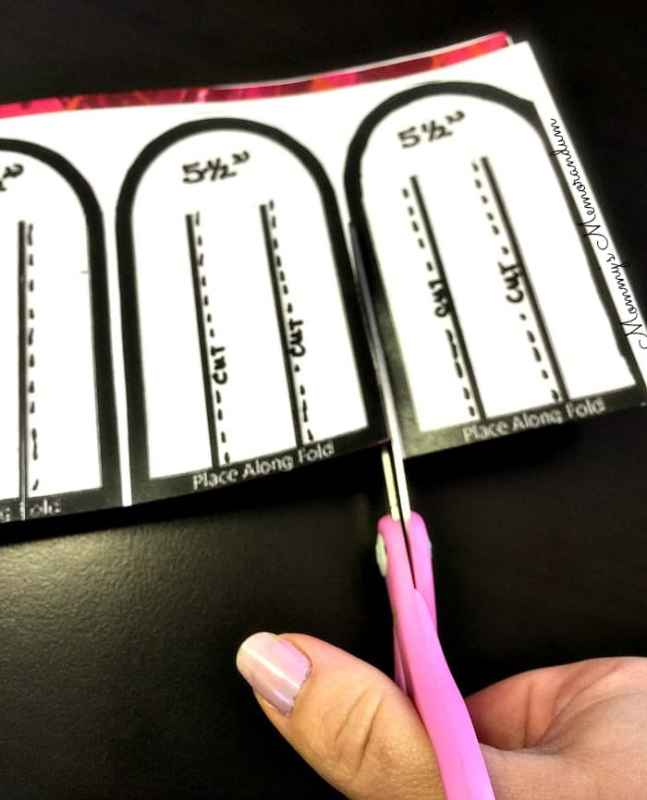 woven heart basket cutting the template