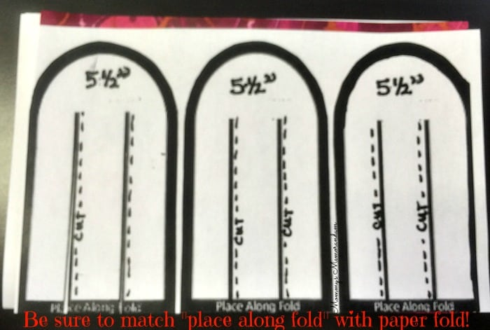 woven heart basket place on fold