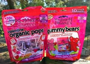 yumearth valentine organic pops and gummybears