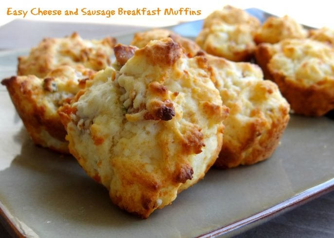 Easy Cheese and Sausage Breakfast Muffins-1
