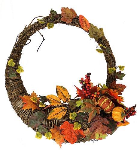 Autumn Harvest Artificial Cornucopia