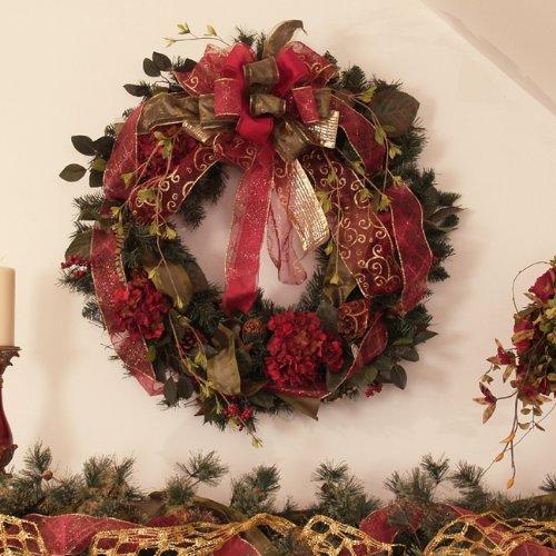 Burgundy Pine Wreath
