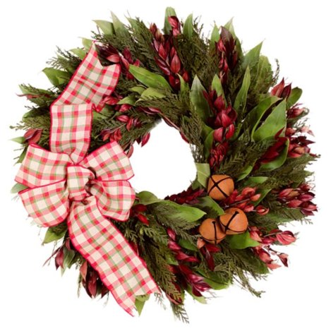 this country style plaid christmas wreath is a great holiday decoration if you are looking to make a decorative grouping of items coordinate this holiday - Small Christmas Wreaths