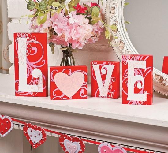 Valentine's Day Love Blocks