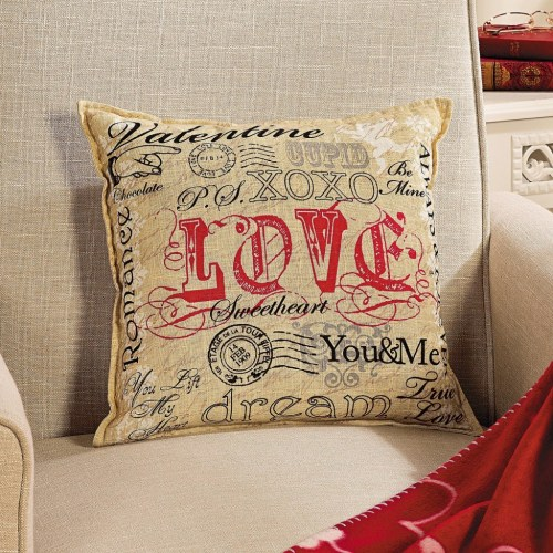 Valentine's Day Saying Decorative Pillow