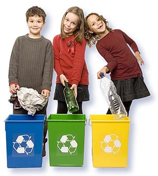 Simple ways to teach children to recycle and live green