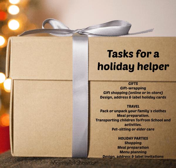 Sample Tasks for a Holiday Helper