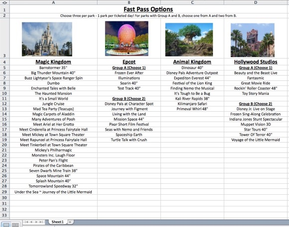 Disney World Dining Reservations