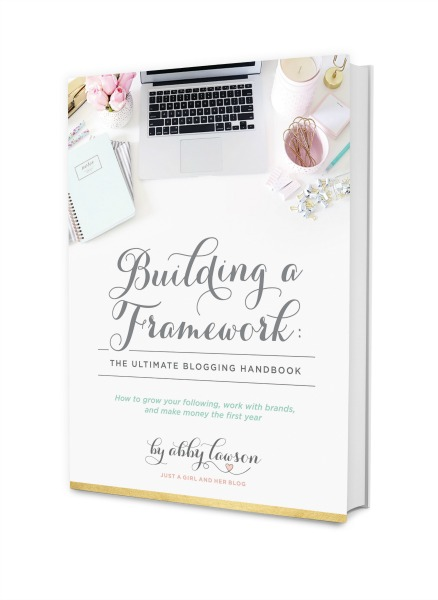 just a girl and her blog building a framework cover