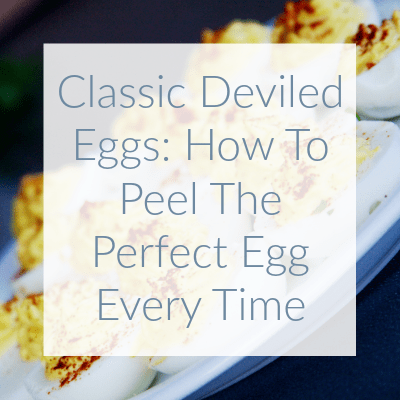 These classic deviled eggs are the perfect addition to your summer party. Learn my secret to peeling pinterest-perfect eggs every time!