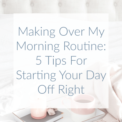 Hello there! I am one of those people that do NOT want to get up in the morning. Sound familiar? I changed just a few things to help myself start things off right so I could be as productive as possible every day.