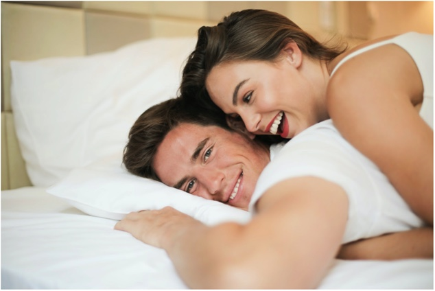 Cheerful Smiling Couple, intimacy, marriage