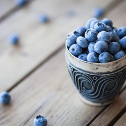 African Blue Blueberry Snack