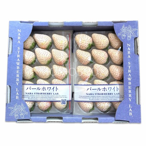 Nara Pearl White Strawberry Tray