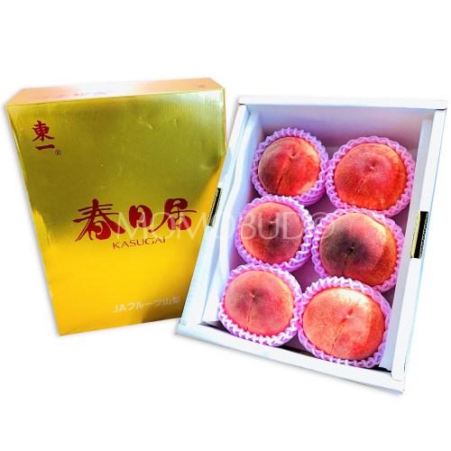 Japanese Kasugai White Peach Gold Gift Box 2kg