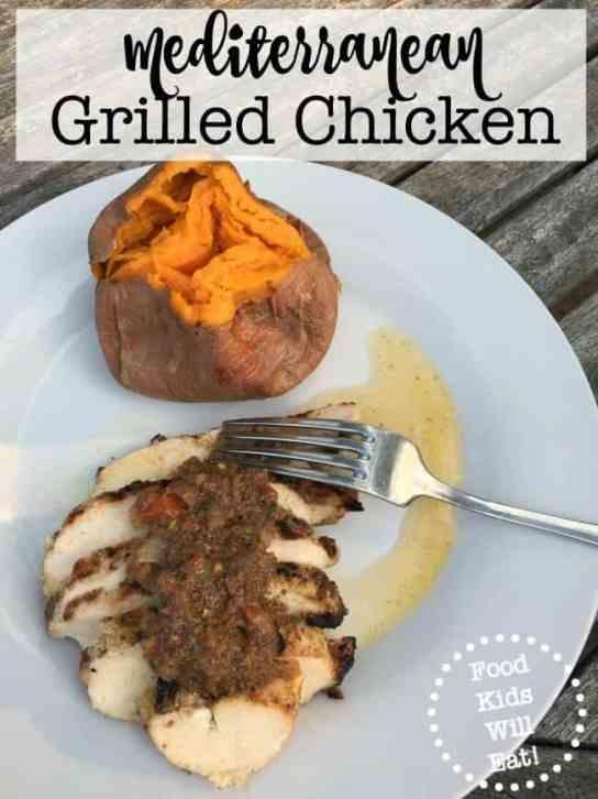 Mediterranean Grilled Chicken-Mom of Six