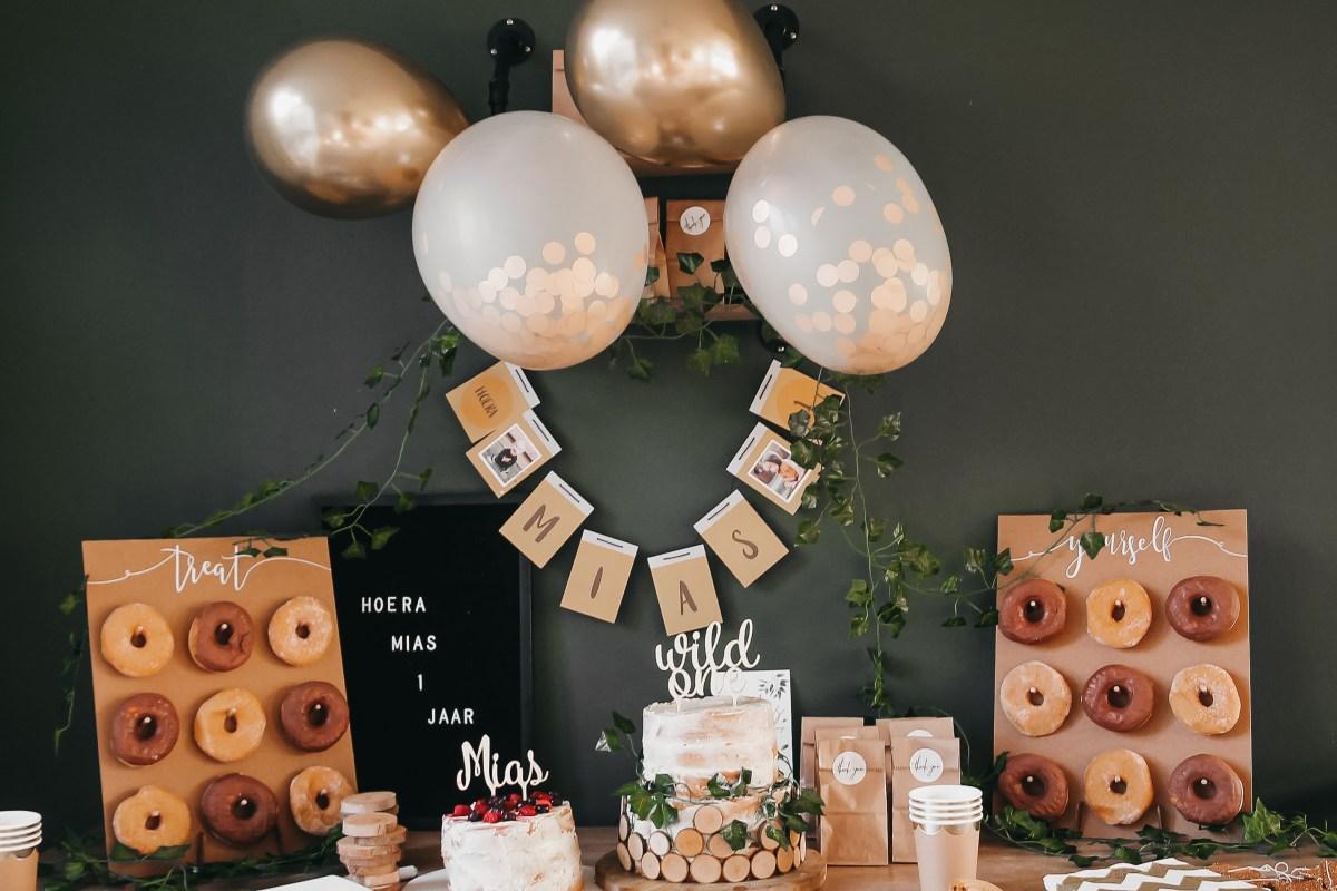 Woodland verjaardagsthema – Mias 1 jaar!