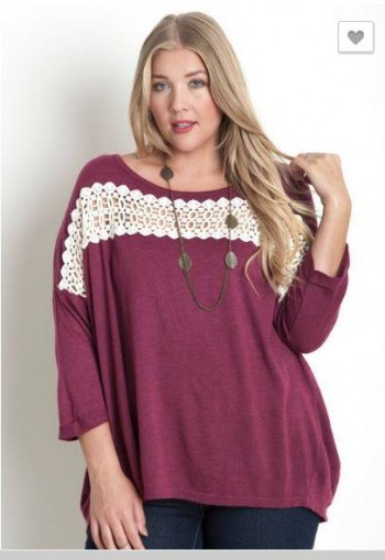 Pink Chic Plum and Lace Plus-Size