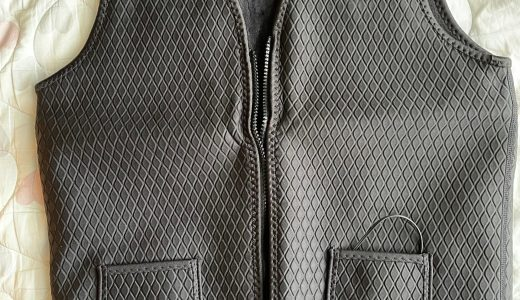 「電熱ベスト」左胸の電源を押すだけでベストが暖まる!スーツや作業着のインナーにおすすめ!!