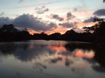 ダンブッラMPSヴィレッジ前の夕景