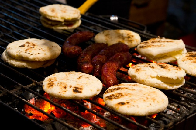 Arepas on the grill