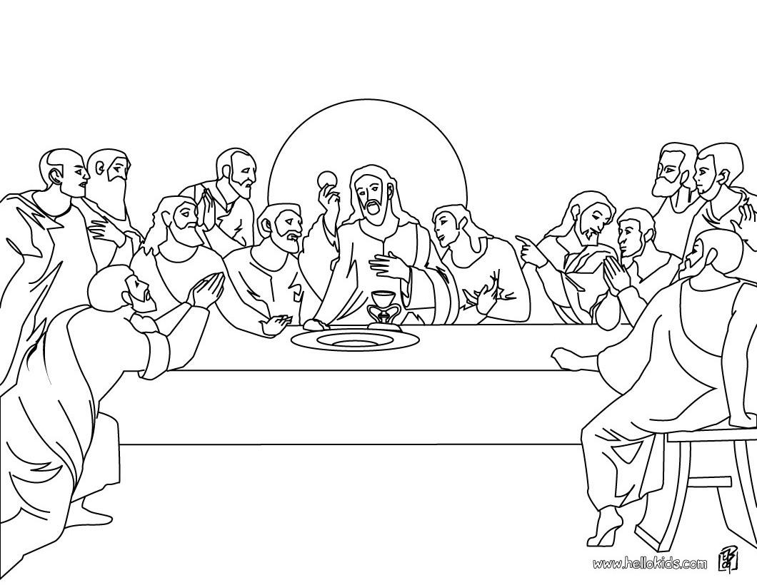 Me Aburre La Religion Ultima Cena Colorear