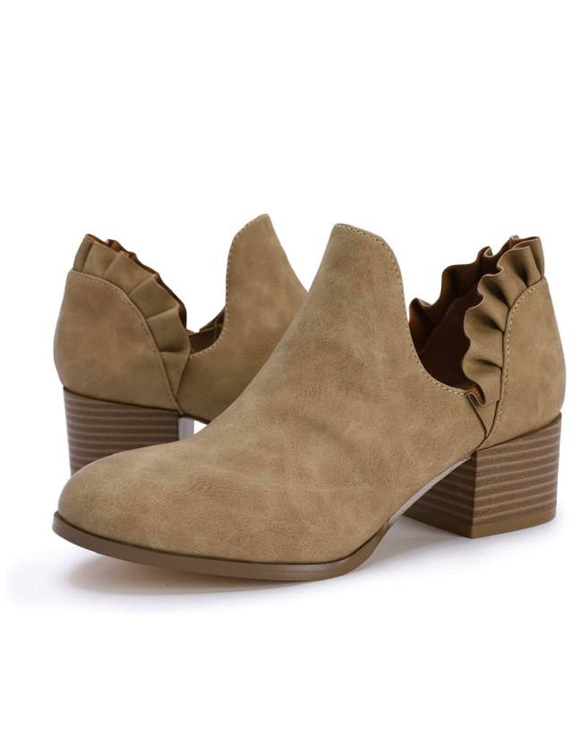 women's cut out ankle bootie
