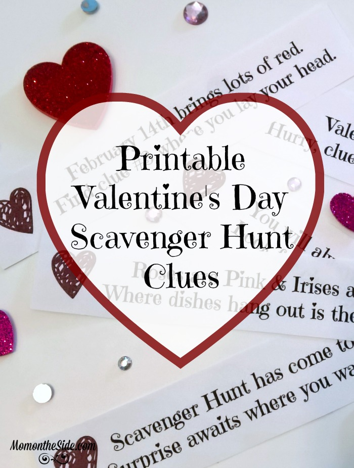 Valentines Day Scavenger Hunt Clues Printable Mom On