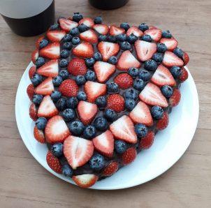 coeliaki taart aardbeien