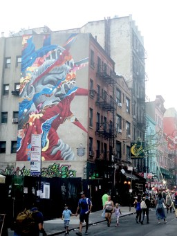 Mulberry Street, Little Italy, New York, Streetart by Tristan Eaton