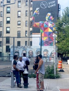 Kobra Street art Lower East Side, New York.
