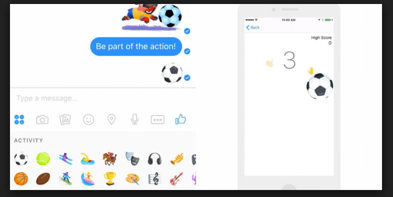 Facebook Messenger Secret Football Game
