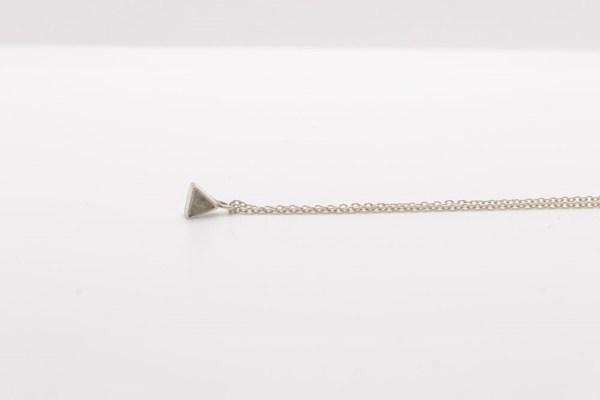 Ketting driehoek zilver