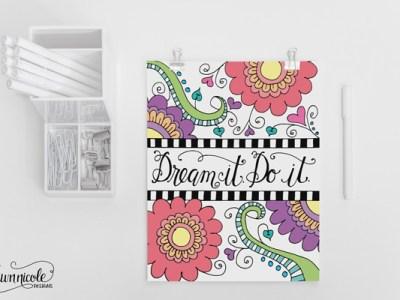 *Free Printables* – Kleuren voor volwassenen