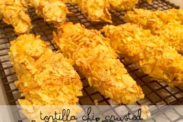 tortilla chip crusted chickn fingers