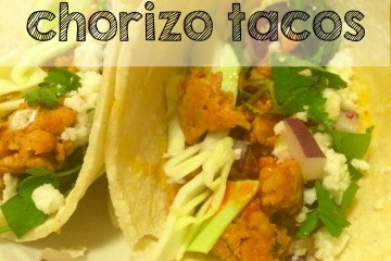 20 minute chorizo taco recipe