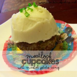 april fools food | meatloaf cupcakes with mashed potatoes icing recipe