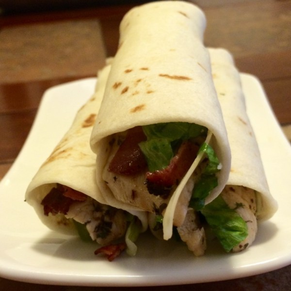 chicken caesar salad wrap recipe moms bistro bacon