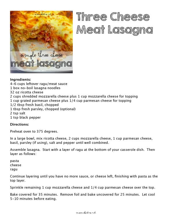 Click to Download a FREE Printable Recipe