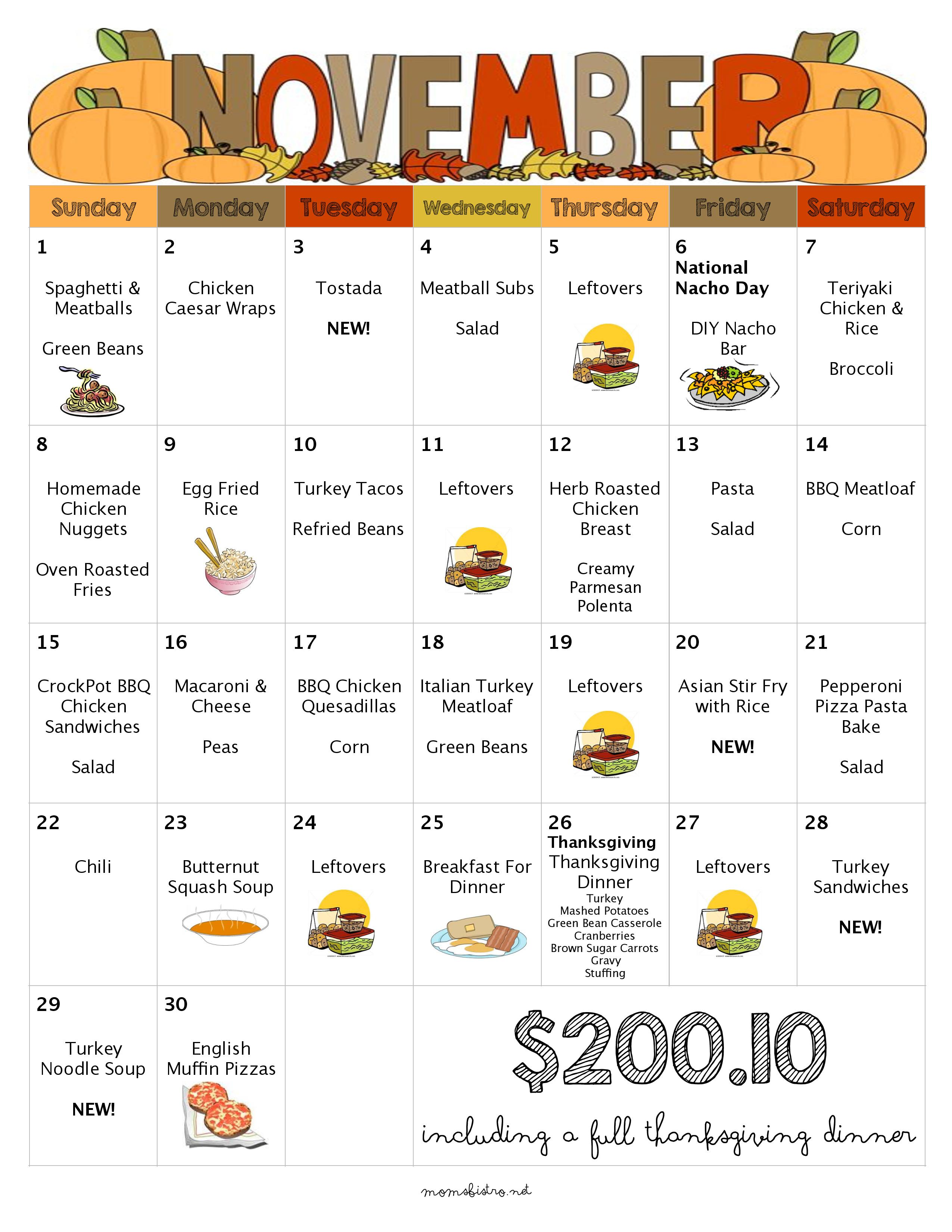 30 Days Of Kid Friendly Dinners With Free Printable Weekly