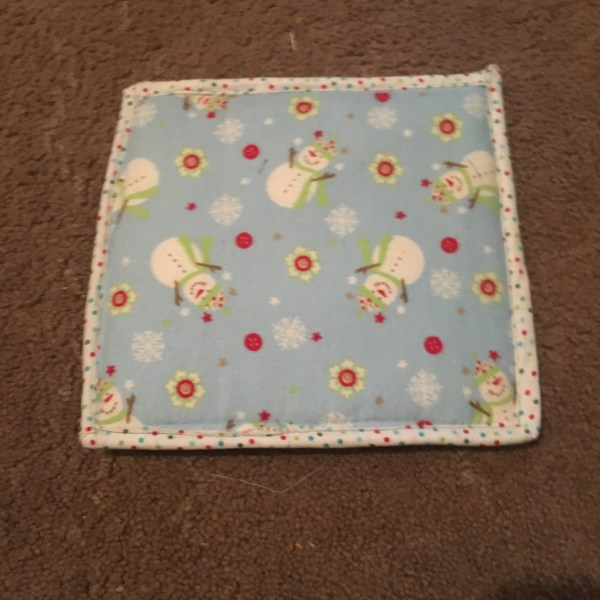 christmas pot holders tutorial sewing beginners hot pad footprints hand