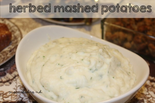 herbed mashed potatoes