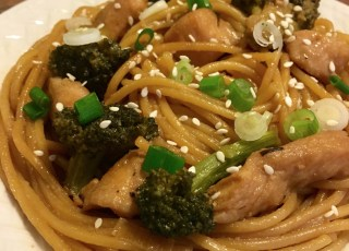 sesame noodles chicken broccoli